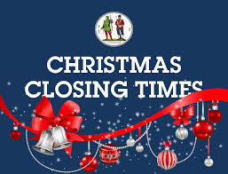Academy's Closing Times over the Christmas Holidays